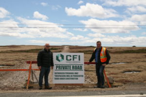 CFI CFO Paul Coombs (left) and CEO Lindsay Gorrill (right) showcase the Town Bypass Road