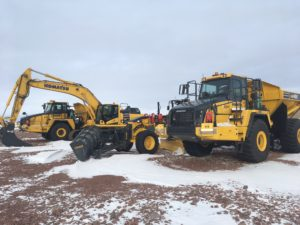 More equipment arrives on site